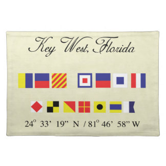 Key West Florida Nautical Signal Flag Placemat