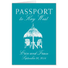 Key West Florida Passport Wedding Invitation