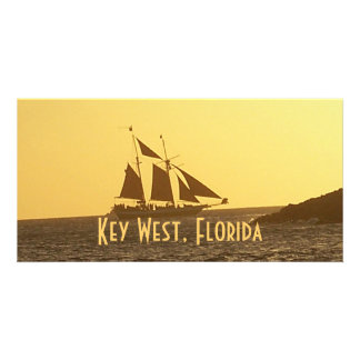 Key West Florida Sailboat Clipper Ship Photo Card