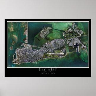 Key West Florida Satellite Poster Map