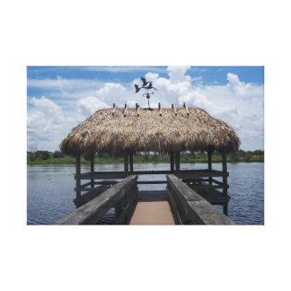 Key West Florida Tiki Hut Wrapped Canvas Photo Art
