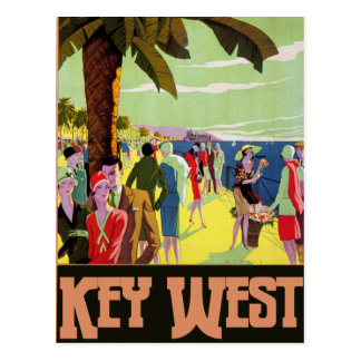 Key West Florida Travel Vintage Artwork Postcard