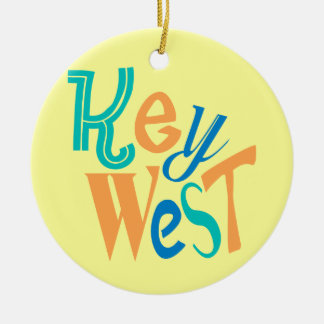 Key West fun typographic design Christmas Ornament
