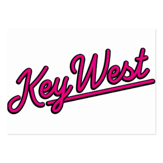 Key West in magenta Business Card Template