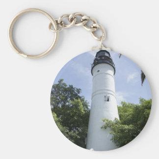 Key West Light Basic Round Button Key Ring