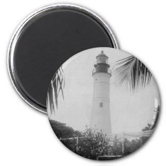 Key West Lighthouse 6 Cm Round Magnet