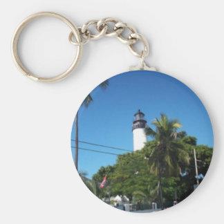 key west lighthouse basic round button key ring