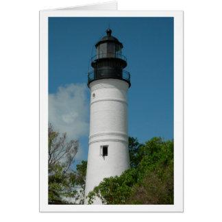 Key West Lighthouse (Blank) Note Card