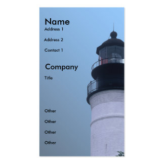 Key West Lighthouse Double-Sided Standard Business Cards (Pack Of 100)