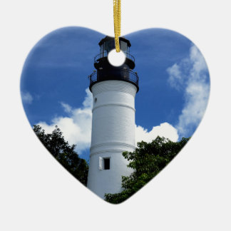Key West Lighthouse Ceramic Heart Decoration