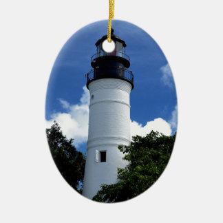 Key West Lighthouse Ceramic Oval Decoration