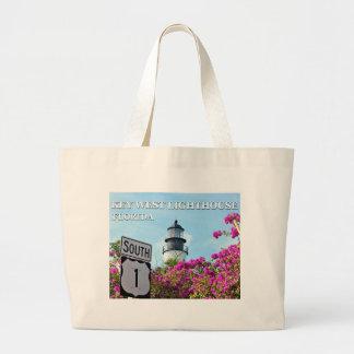 Key West Lighthouse, Florida Jumbo Tote Bag