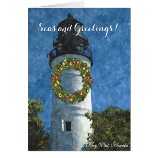 Key West Lighthouse Holiday Card