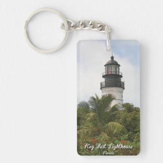 Key West Lighthouse Key Chain Rectangular Acrylic Key Chains