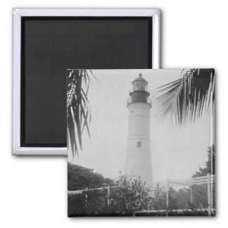 Key West Lighthouse Square Magnet