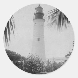 Key West Lighthouse Classic Round Sticker
