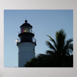 Key West Lighthouse - Sunrise Poster