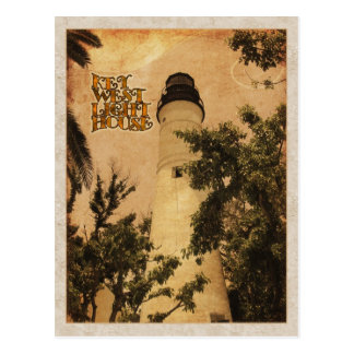 Key West Lighthouse Vintage Photo Postcard