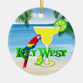 Key West Margarita Christmas Ornament