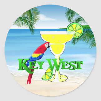 Key West Margarita Classic Round Sticker