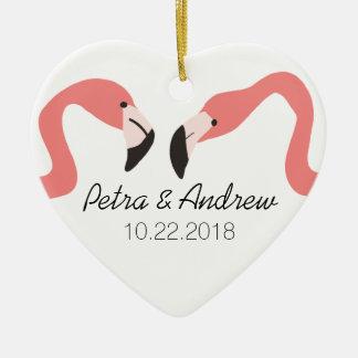 Key West Modern Whimsy Couple's Ceramic Heart Decoration