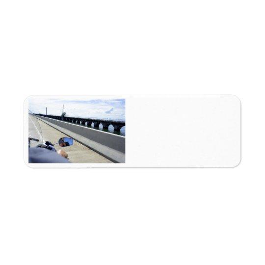 Key West Run Return Address Label