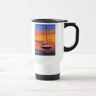 Key West sail boat travel mug