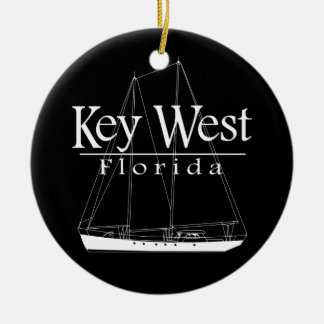Key West Sailing Christmas Ornament