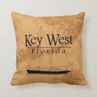 Key West Sailing Throw Pillow