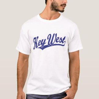 Key West script logo in blue T-Shirt