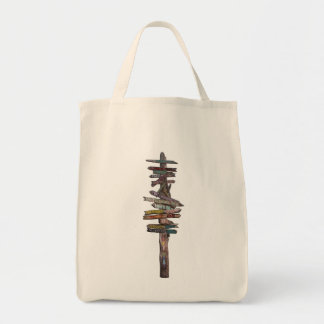Key West Sign Post Grocery Tote Bag