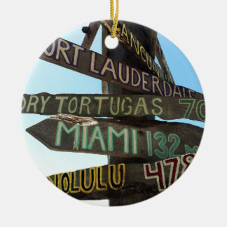 Key West Signs Christmas Ornament