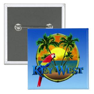 Key West Sunset 15 Cm Square Badge