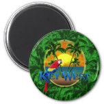 Key West Sunset 6 Cm Round Magnet