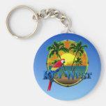 Key West Sunset Basic Round Button Key Ring