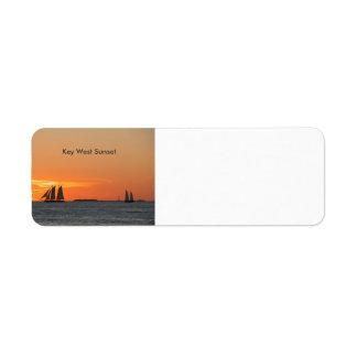 Key West Sunset Return Address Label