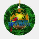 Key West Sunset Round Ceramic Decoration