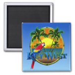 Key West Sunset Square Magnet
