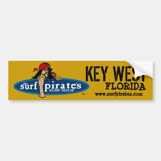 Key West Surf Shop Bumper Sticker