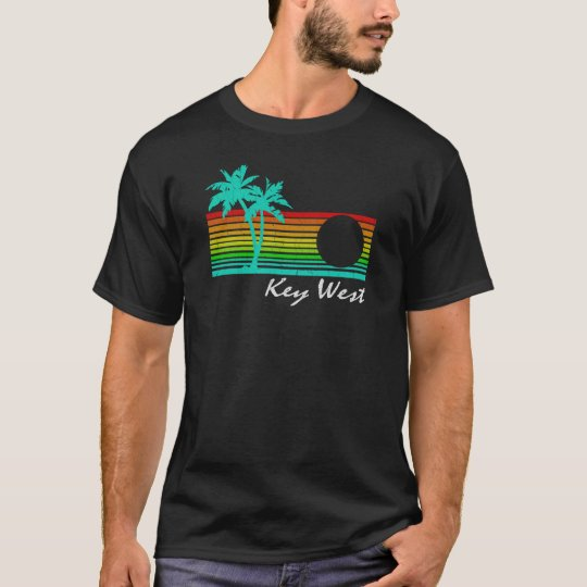 Key West - Vintage Distressed Design T-Shirt