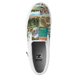 Key West Vintage PostCards Slip-on Sneaks Printed Shoes