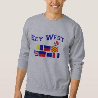 Key West  w/ Maritime Flags Sweatshirt