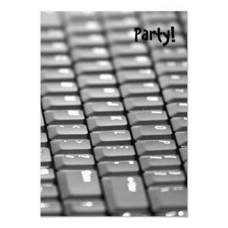 Keyboard 13 Cm X 18 Cm Invitation Card
