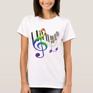 Keyboard and Treble Clef T-Shirt