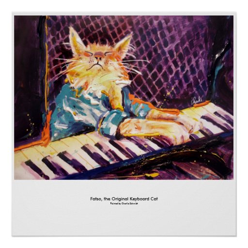 keyboard Cat Color Poster