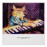 keyboard Cat Colour Poster