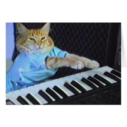 Keyboard Cat Greeting/Christmas Cards! Card