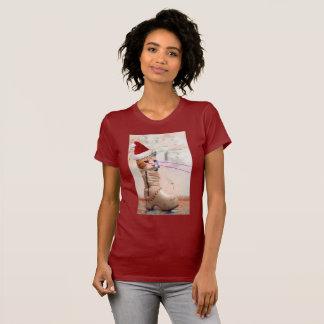 Keyboard Cat SANTA IN SHOE t-shirt