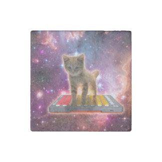 keyboard cat - tabby cat - kitty stone magnet