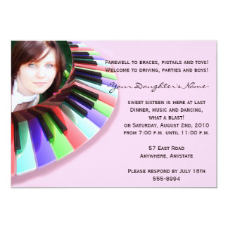 """Keyboard Chaos with Your Photo 5"""" X 7"""" Invitation Card"""
